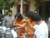 3 pelaku pencurian modul perubah sinyal milik provider GSM diamankan Polsek Denpasar Selatan - foto: Istimewa