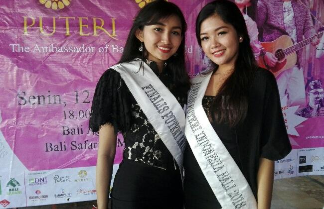 Kanan - Linanda Aninditha Chisilia (23) nominator 10 besar di ajang Pemilihan Puteri Indonesia Provinsi Bali 2018 - foto: Wahyu Siswadi/Koranjuri.com