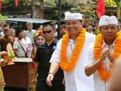 Cagub Bali nomer urut 1, I Wayan Koster hadir dalam deklarasi warga di Kecamatan Susut, Bangli, untuk mendukung pasangan Koster-Ace pada Pilgub 27 Juni 2018 mendatang - foto: Istimewa