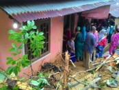 Kondisi rumah yang terkena bencana tanah longsor di Sibolga, Sumatera Utara - foto: Istimewa