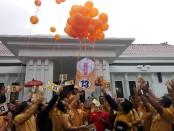 Rapimda Partai Hanura dihadiri Calon Gubernur Bali I Wayan Koster. Partai Hanura juga mensosialisasikan nomor urut 13 sebagai partai peserta Pemilu 2019 - foto: Wahyu Siswadi/Koranjuri.com