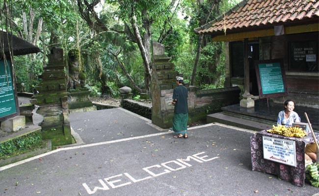 Gerbang masuk menuju Monkey Morest, Ubud - foto: Koranjuri.com