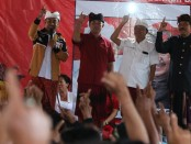 Calon Gubernur dan Wakil Gubernur Bali nomor urut 1, Wayan Koster-Tjok Oka Artha Ardhana Sukawati (Koster-Ace) menggelar kampanye di sejumlah titik di Kabupaten Karangasem - foto: Istimewa