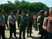 Apel kesiapsiagaan pengamanan VVIP digelar di Lapangan Lagoon Nusa Dua, Senin, 2 April 2018 - foto: Istimewa