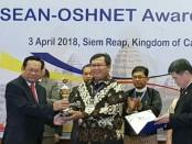 PT Indonesia Power Unit Pembangkitan Bali yang merupakan anak usaha PT PLN (Persero) menerima penghargaan Asean Oshnet Award kategori Excellence - foto: Istimewa