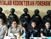 Kabid Humas Polda Metro Jaya, Kombes Raden Argo Yuwono menggelar konferensi pers terkait penangkapan pelaku Skimming di Tangerang - foto: Bob/Koranjuri.com