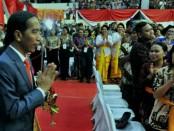 Presiden Joko Widodo menghadiri Dharma Santi Nasional Perayaan Hari Raya Nyepi di GOR Ahmad Yani, Mabes TNI, Cilangkap, Jakarta Timur - foto: Istimewa