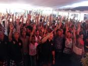 Ratusan warga menghadiri kampanye  pasangan calon Gubernur nomer urut 1 Wayan Koster-Cok Ace di wilayah Kabupaten Karangasem - foto: Istimewa