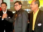 Menkopolhukam Wiranto, Ketua Umum DPP IMO-Indonesia Yakub F. Ismail (kiri), dan Sekjen IMO-Indonesia M. Nasir Bin Umar - foto: Istimewa
