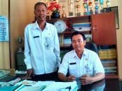 Sudarman, S.Sos, Kepala UPT-BLK Dinperinaker Kabupaten Purworejo, didampingi Takat Mulyanto, Kasubag TU - foto: Sujono/Koranjuri.com
