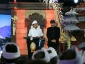 Pasangan cagub-cawagub nomer urut 1, I Wayan Koster-Tjok Oka Arta Ardana Sukawati (Koster-Ace) saat mengikuti debat putaran kedua, Sabtu, 26 Mei 2018 - foto: Istimewa