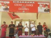Cagub nomer urut 1 I Wayan Koster menggelar simakrama bersama pasangan calon Bupati dan Wakil Bupati Klungkung nomor urut 1, Cokorda Bagus Oka-I Ketut Mandia (BAGIA) - foto: Istimewa
