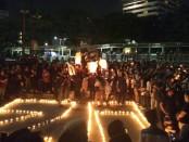 Peringatan 20 tahun tragedi Trisakti, 12 Mei 2018, yang diperingati di Kampus A Universitas Trisakti, Jalan Letjend S. Parman, Jakarta Barat, Jum'at (11/05/2018) - foto: Bob/Koranjuri.com