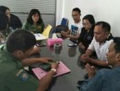 Kunjungan tim Kesbangpol Bali ke Kantor sekretariat IMO DPW Provinsi Bali, Senin, 25 Juni 2018 - foto: Istimewa