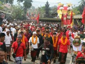Sekitar 5 ribu warga se-Kecamatan Tegalalang terlihat begitu antusias menyambut pasangan calon pemimpin Bali periode 2018-2023 - foto: Istimewa