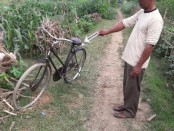 TKP curanmor milik Dasirin, petani jeruk warga Desa Tambakprogaten Kecamatan Klirong, Kebumen - foto: Sujono/Koranjuri.com