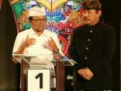 Pasangan Koster-Ace pada debat kandidat ketiga Pemilihan Gubernur (Pilgub) Bali 2018 - foto: Istimewa