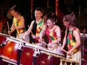 Penampilan Wadaiko Dream Team yang merupakan kelompok seni genderang asal Jepang di Taman Budaya Denpasar - foto: Istimewa