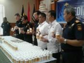 Barang bukti hasil penegahan Bea Cukai Ngurah Rai terhadap pengiriman paket berisi 600.000 butir pil mengandung Pseudoephedrine asal Korea Selatan menuju Australia - foto: Istimewa