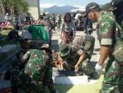 Tim Dukungan Kesehatan dari Batalyon Kesehatan Divisi 2 Kostrad yang bermarkas di Malang diberangkatkan ke Lombok, Nusa Tenggara Barat - foto: Istimewa
