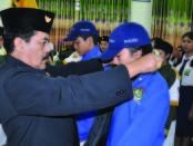 Pelantikan pengurus OSIS di SMP PGRI 2 Denpasar dilakukan bertepatan dengan peringatan HUT Kemerdekaan RI Ke-73  - foto: Istimewa