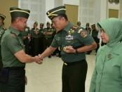 Kasad TNI AD Jenderal TNI Mulyono melantik 34 Perwira Tinggi (Pati) TNI AD di lingkungan  Markas Besar TNI Angkatan Darat, Jakarta, Rabu (5/9/2018) - foto: Istimewa