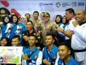 Polda Metro Jaya meraih juara umum 3 kategori Polri-TNI pada turnamen taekwando Kapolri Cup 2018 - foto: Bob/Koranjuri.com