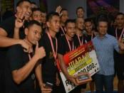 Milac TNI AD menduduki juara II setelah berhadapan dengan GMF Aero Asia dengan skor 30 : 42 pada pertandingan Final Kategori Executif antara Milac TNI AD Vs GMF Aero Asia pada pertandingan Basket Ball Kapolres Tangsel Cup II tahun 2018 - foto: Istimewa