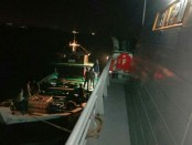 Kapal Motor Bintang Rezeki membawa minuman keras dan rokok ilegal. Kapal berbendera Indonesia ini ditangkap Perairan Singapura pada Jumat (28/9/2018) - foto: Istimewa