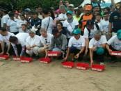 Pelepasan 1.000 tukik di pantai Kuta saat acara 'Menghadap Laut' yang menjadi pre event Our Ocean Conference yang diadakan di Nusa Dua Bali 29-30 Oktober 2018 - foto: Istimewa
