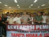 Diskusi bertema 'Peran Organisasi Masyarakat dalam Menanggulangi Radikalisme, Intoleransi dan Hoax dalam Rangka Mensukseskan Pemilu 2019 di wilayah Hukum Polres Metro Jakarta Barat' - foto: Bob/Koranjuri.com