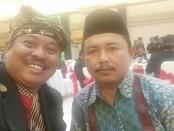 AA Ngurah Agung (kiri) bersama Ketua Pengurus Wilayah Nahdlatul Ulama  (PWNU) Bali, H Abdul Aziz (kanan) - foto: Istimewa