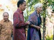 Presiden Joko Widodo bersama Direktur Manager IMF Christine Lagarde di Bali Sofitel, Kamis, 11 Oktober 2018 - credited: World Bank