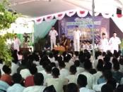 Suasana pengajian Gus Miftah di SMK YPP Purworejo, dalam memperingati Maulid Nabi Muhammad SAW 1440 H, Senin (19/11) – foto: Sujono/Koranjuri.com