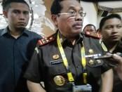 Jaksa Agung HM. Prasetyo usai menggelar konferensi pers Rakernas Kejaksaan di Hotel Inna Grand Bali Beach, Sanur, Selasa, 26 November 2018 - foto: Koranjuri.com