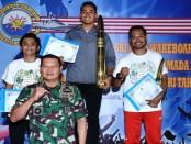 Panglima Komando Armada I Laksamana Muda TNI Yudo Margono, secara resmi menutup Kejurnas Ski Air dan Wakeboard Piala Panglima TNI dalam rangka Hari Armada RI Tahun 2018 yang berlangsung 25 hingga 28 November 2018 di Danau Sunter, Jakarta Utara, Rabu (28/11/2018) - foto: Istimewa