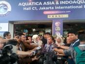 Dirjen Perikanan Budidaya Kementerian Kelautan dan Perikanan Soebjakto membuka Aquatic Asia & Indoaqua 2018 di JI Expo Kemayoran Jakarta - foto: Istimewa