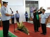 Pengucapan sumpah janji Ari Rahmanto, sebagai Kepala Kesatuan Pengamanan Rutan Purworejo - foto: Sujono/Koranjuri.com