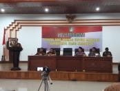 Keterangan foto: wakil walikota surakarta H.Purnomo pada saat memberikan sambutan ikrar damai di bale tawangarum balaikota Surakarta .Foto: istimewa