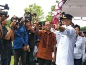 Gubernur Bali I Wayan Koster bersama Menhub Budi Karya Sumadi meninjau rencana lokasi pembangunan Bandara Buleleng di Dusun Tukad Ampel, Desa, Kecamatan Kubutambahan, Buleleng, Minggu, 30 Desember 2018 - foto: Istimewa