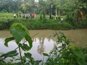 Sungai Dulang, Desa Jrakah, Bayan, tempat korban Risma hanyut - foto: Sujono/Koranjuri.com