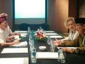 Gubernur Bali I Wayan Koster bertemu dengan Duta Besar Rusia untuk Indonesia Ludmila Vorobieva - foto: Koranjuri.com
