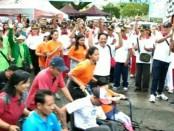 Pemerintah Kota Denpasar menggelar jalan santai memperingati Hari Disabilitas Internasional, Jumat (7/12/2018) di Lapangan Lumintang Denpasar - foto: Istimewa