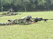 Penampilan petembak runduk dalam event Lomba Tembak Piala Panglima TNI - foto: Istimewa