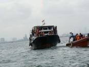 Sosialisasi keselamatan pelayaran di Dermaga Kanuri, Tanjung Priok, Jakarta Utara, tepatnya di atas Kapal Negara KN Trisula P111, Sabtu (15/12/2018) - foto: Istimewa