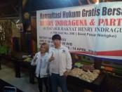 Keterangan foto: Henry Indraguna, caleg Partai Perindo saat merelease dapur konsultasi hukum./foto:koranjuri