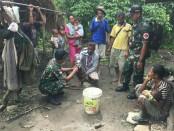 Batalyon Infanteri Raider 408/Suhbrastha yang bertugas menjaga batas RI-Timor Leste - foto: Istimewa
