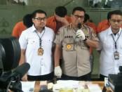 Subdit II Dit Resnarkoba Polda Metro Jaya mengungkap kasus Narkotika jenis Metamphetamin atau sabu-sabu sebanyak 2 kg - foto: Bob/Koranjuri.com