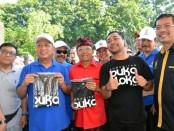 Menristekdikti Mohammad Nasir (nomer dua kiri) bersama Gubernur Bali I Wayan Koster dan Ketua STIKOM Bali Dadang Hermawan (kanan) - foto: Istimewa
