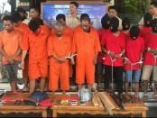 Polres Badung menggelar ekspos dua kasus yakni, pengancaman terhadap tim Jatanras dan kasus pencurian - foto: Istimewa